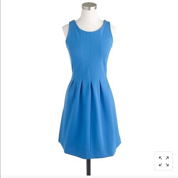 J. Crew Dresses & Skirts - J Crew Blue Pleated Flare Dress NWT